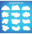Set of twelwe flat-styled clouds vector image vector image