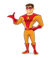 Handsome Superhero Welcome vector image vector image