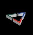 Geometric shape company logo design vector image vector image