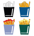 french fres set color vector image