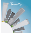 Toronto skyline with grey buildings blue sky vector image