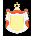 empty coat of arms vector image vector image