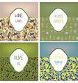 Food labels set design with patterns - vector image