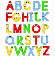 Funny latin alphabet vector image