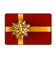 gift box with golden bow vector image