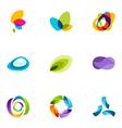 Logo design elements set 41 vector image