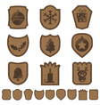 christmas plaques vector image