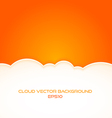 cloud background with text space vector image vector image