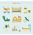 baby care items vector image