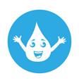 round icon water drop cartoon vector image