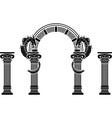 fantasy arch and columns vector image vector image