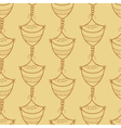 Seamless pattern with design element vector image