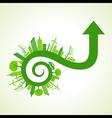 Eco city concept with arrow design stock vector image