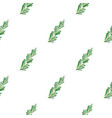 green rosemary twig pattern flat vector image