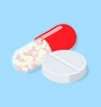 medical pill and tablet vector image