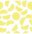 Seamless sliced lemon pattern vector image
