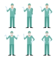 Set of surgeons vector image