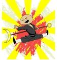 shaolin monk trains vector image