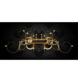 Luxury frame black on gold vector image vector image