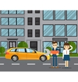 Car troubles concept with people vector image
