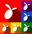 olive sign   set of icons with vector image
