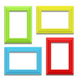 colour classis frame set on the wall vector image