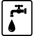 black tap and drop vector image
