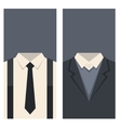 Business Card with Suits and Ties Design vector image vector image