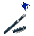 Ink pen and blot vector image