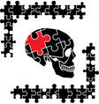 Puzzle skull vector image