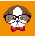 cute portrait doggy icon design vector image
