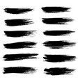 grunge ink brush strokes freehand black brushes vector image