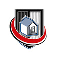 Home insurance conceptual icon protection shield vector image