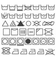 Laundry Icons Set Washing Symbol vector image
