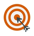 Successful shoot goal icon darts target aim on vector image