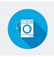 Washing machine icon Home equipment symbol vector image