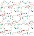 Apples abstract seamless pattern vector image