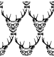Seamless with hand drawn dressed up deer vector image vector image