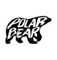 Polar bear silhouette vector image