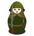 Matryoshka with a machine gun Degtyarev vector image vector image