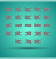 racing background set collection of 23 checkered vector image