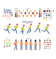 create your own character colorful set vector image