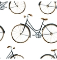 Watercolor bikes pattern vector image