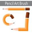 Pencil icon art brush vector image