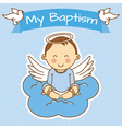 boy baptism vector image