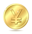 golden coin yen vector image vector image