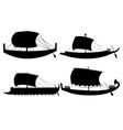 ancient sail boats vector image vector image