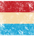 Luxembourg retro flag vector image vector image