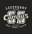 Athletic campus emblem in retro style vector image