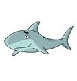 Big smiling swimming shark vector image